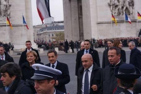 Célébration franco-allemande du 91e anniversaire de l'Armistice de 1918