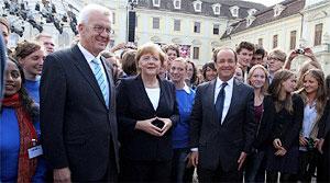 Angela Merkel und François Hollande eröffnen deutsch-französisches Jahr