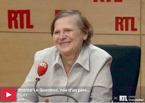 Chantal ist Sekretärin und Abgeordnete des Vereins HOG, Sie wurde von RTL über die Kriegskinder befragt