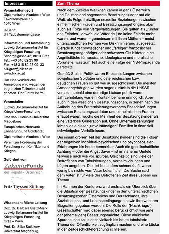 Besatzungskinder Wiener Konferenz