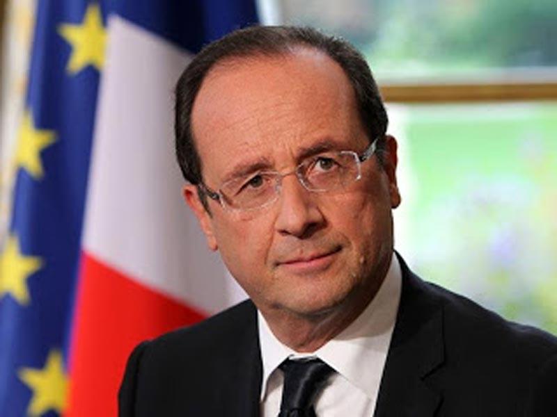 Kopie des Briefes, dem Präsident François Hollande