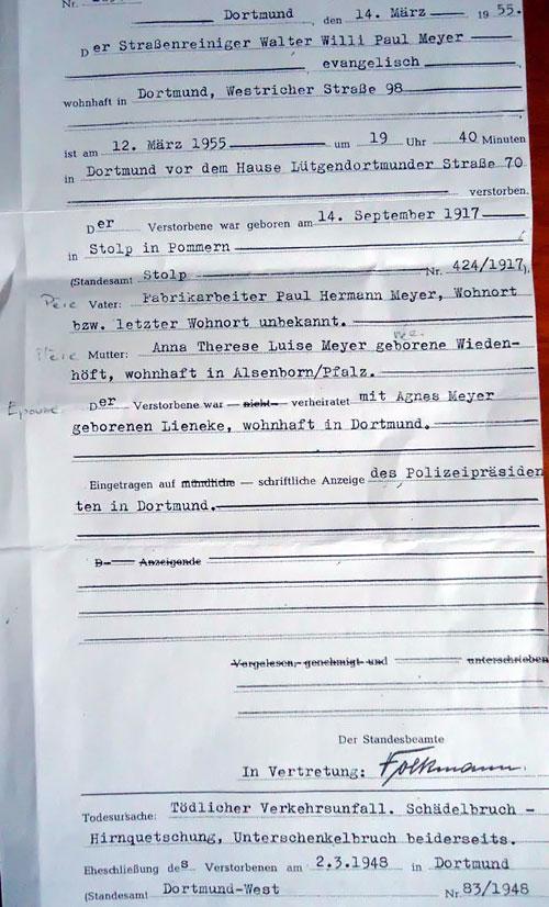 Act Tod von Walter MEYER