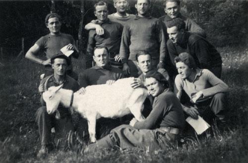 Im Rücken des Fotos : Michel- Esquefon – Marossero –Cherchi – Zurlinden- Treffouret – Usseglio – Maury Martial