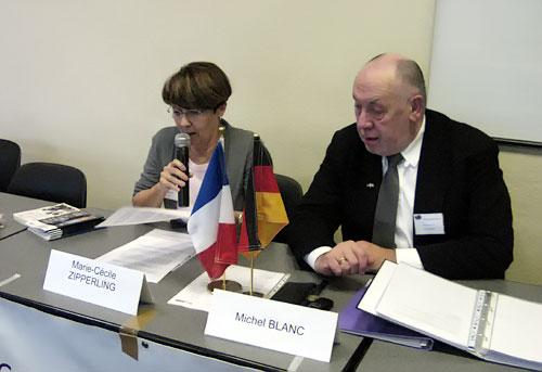Marie-Cécile Zipperling, chargée de recherche à la WASt et Monsieur Michel Blanc, président de CSF/HOG