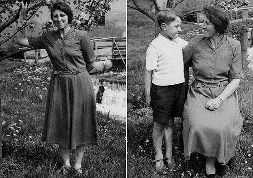 Anna (c.a. 1949) Anna mit ihrem Sohn (c.a.1949)