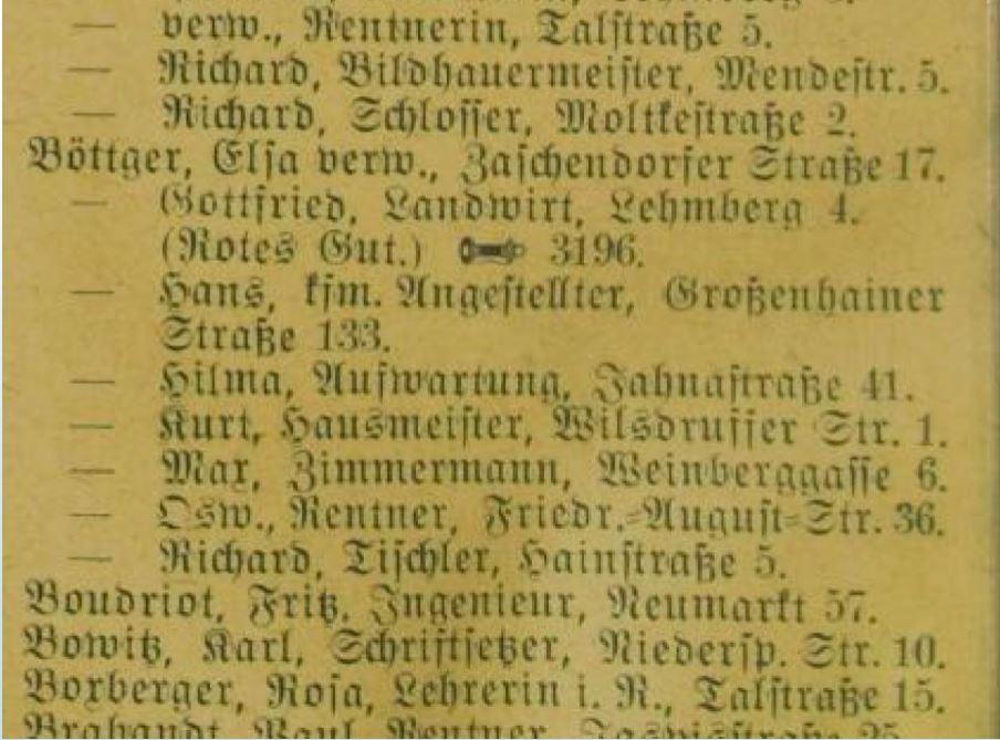 Lettre adressée au père de Peter HOFFMANN