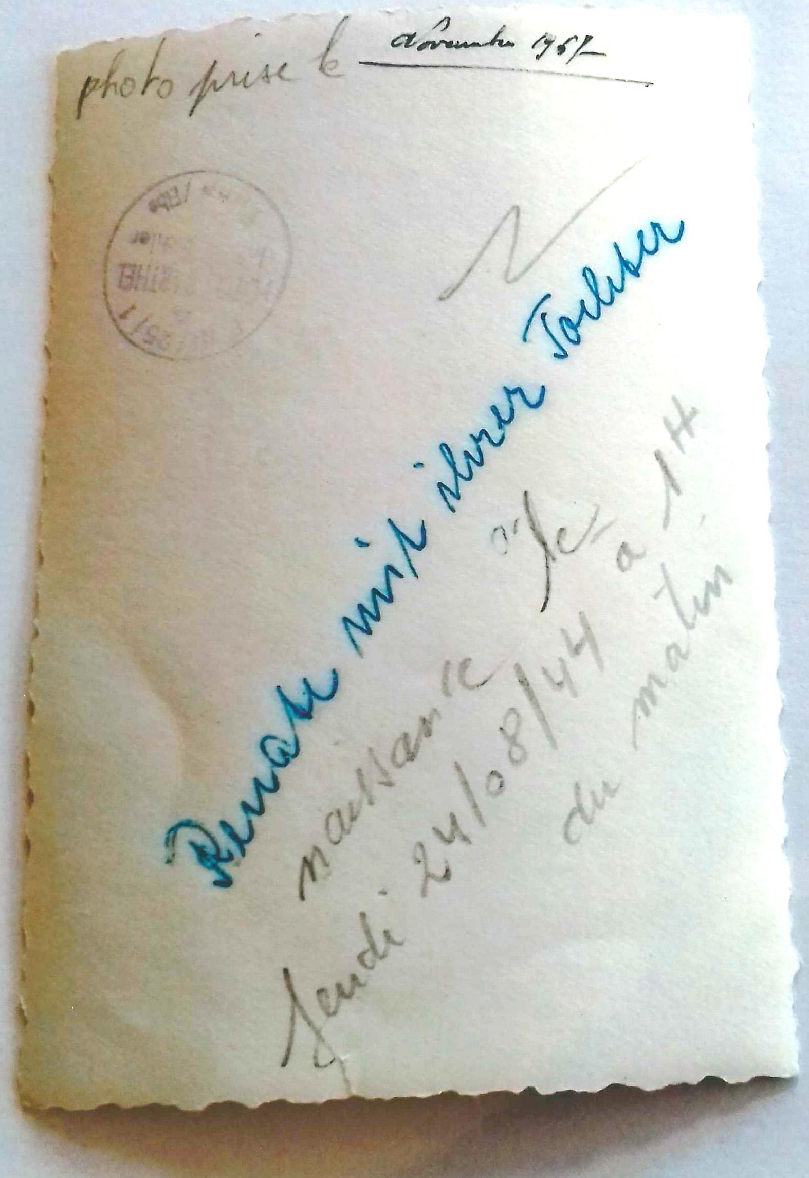 Signature et écriture d'Odette