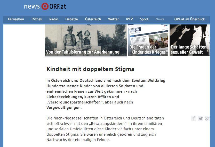 Kindheit mit doppeltem Stigma – ORF