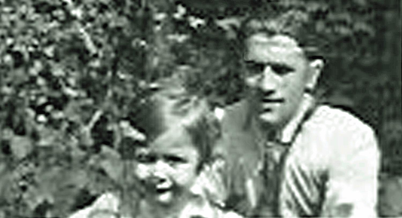 Irène und ihre Vater - 1945.